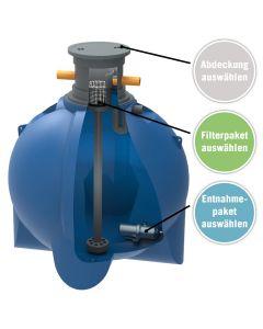 Regenwasserpaket 6200 Liter für Haus- und Gartennutzung